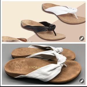 Vionic Pippa white knotted thong comfort sandals